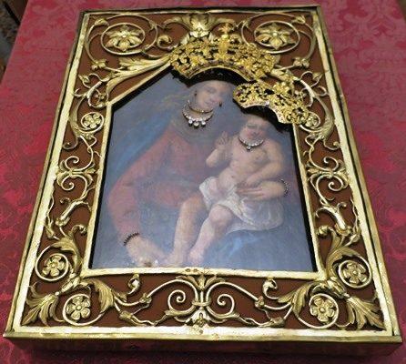 Il quadro dell'Apparizione ha fatto ritorno al Boschetto.