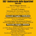 In arrivo il 503° anniversario delle Apparizioni di NS del Boschetto